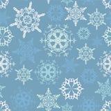 Bezszwowy płatka śniegu tło Zdjęcia Stock