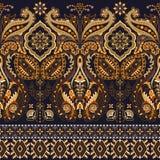 Bezszwowy Paisley tło, kwiecisty wzór ilustracja wektor