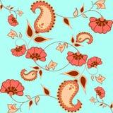 Bezszwowy Paisley wzór dla tekstylnego projekta royalty ilustracja