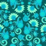 Bezszwowy Paisley wzór dla tekstylnego projekta ilustracja wektor