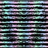 Bezszwowy pasiasty holograficzny wzór Bezszwowy tło Obraz Royalty Free
