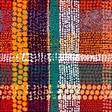 Bezszwowy patchworku wzór Fotografia Stock