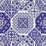 Bezszwowy patchworku wzór Zdjęcia Stock