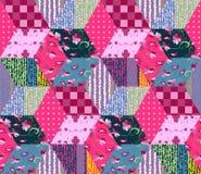Bezszwowy patchworku wzór Obraz Royalty Free