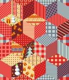 Bezszwowy patchworku wzór dla bożych narodzeń Fotografia Stock