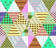 Bezszwowy patchworku wzór Geometryczny etniczny ornament ilustracja wektor