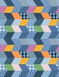 Bezszwowy patchworku wzór - stylizowany nocy miasto Fotografia Royalty Free