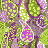 Bezszwowy Pattern.Paisley Kolorowy tło. Zdjęcia Royalty Free