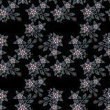 Bezszwowy perła koralików biżuterii wzór na czerni Fotografia Royalty Free