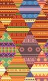 Bezszwowy plemienny wzór z rodzimymi wzorami Patchwork koc najlepszego ściągania oryginalni druki przygotowywali teksturę royalty ilustracja