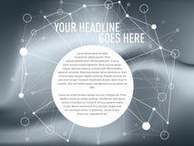 Bezszwowy podłączeniowy sieć projekta szablon royalty ilustracja