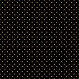 Bezszwowy polki kropki czerni wzór Fotografia Stock