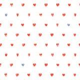 Bezszwowy polki kropki serc wzór ilustracji