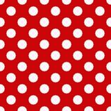 Bezszwowy Polki kropki wzór Obrazy Stock