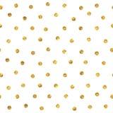 Bezszwowy polki kropki złoty wzór Fotografia Royalty Free