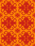 bezszwowy pomarańcze gorący wzór Obrazy Royalty Free