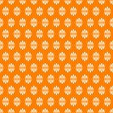 Bezszwowy pomarańczowy antykwarski kwiatu wzór royalty ilustracja