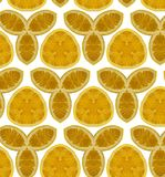 bezszwowy pomarańcze abstrakcjonistyczny wzór Fotografia Royalty Free