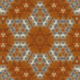 Bezszwowy pomarańczowy klejnotu wzór 001 Zdjęcia Stock