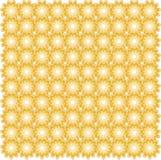 Bezszwowy pomarańczowy kwiecisty symetryczny wzór Projekta element, opakunkowy papier Obraz Royalty Free