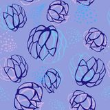 Bezszwowy powtórka wzór z kwiatami kolorowy doodle Obrazy Stock