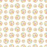 Bezszwowy powtórka wzór z poligonalnymi kształtami ilustracja wektor