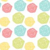 Bezszwowy powtórka wzór z poligonalnymi kształtami ilustracji