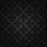Bezszwowy powtórkowy czarny kwiecisty wzór Zdjęcia Royalty Free