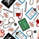 Bezszwowy prewencyjnej medycyny tła wzór Zdjęcia Stock