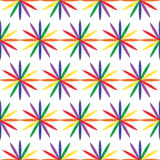 Bezszwowy przykład stubarwny iryzuje kolory ilustracji