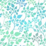 Bezszwowy przypadkowy wzór z liśćmi ilustracji