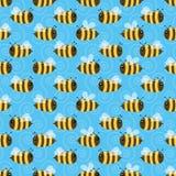 Bezszwowy pszczoła wzór Fotografia Stock