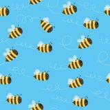 Bezszwowy pszczoła wzór Obrazy Royalty Free
