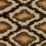 Bezszwowy pytonu węża skóry wzór wektor Zdjęcia Royalty Free