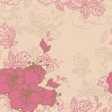 Bezszwowy róża wzór Zdjęcia Royalty Free