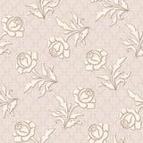 Bezszwowy róża wzór Obrazy Stock