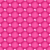 Bezszwowy różowy waciany tło z szpilkami Zdjęcia Stock
