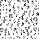 bezszwowy ręka patroszony kwiecisty wzór Obraz Stock