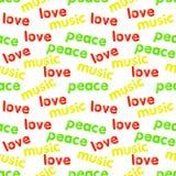 Bezszwowy reggae wzór Fotografia Stock