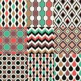 Bezszwowy retro geometryczny tapeta wzór Fotografia Stock
