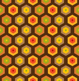 Bezszwowy retro honeycomb wzór Zdjęcie Stock