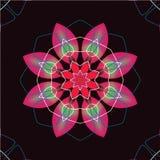 Bezszwowy retro kalejdoskop kwitnie tło ilustracji