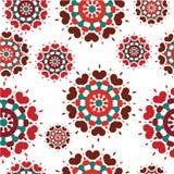 Bezszwowy retro kalejdoskopu kwiatu tła wzór Zdjęcie Stock