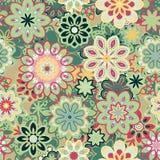 Bezszwowy retro kalejdoskopu kwiatu tła wzór Obraz Royalty Free