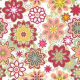 Bezszwowy retro kalejdoskopu kwiatu tła wzór Zdjęcia Stock