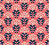 Bezszwowy retro wzór z abstrakcjonistycznymi kwiatami Obrazy Stock