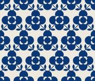 Bezszwowy retro wzór z kwiatami i liśćmi Obrazy Royalty Free
