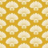 Bezszwowy retro wzór z stylizowanymi kwiatami Zdjęcia Stock