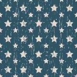 Bezszwowy rocznik będący ubranym out gwiazdowy kształta wzoru tło Obrazy Stock