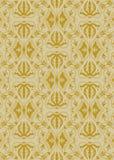 Rocznika adamaszka złoty wzór Zdjęcia Royalty Free